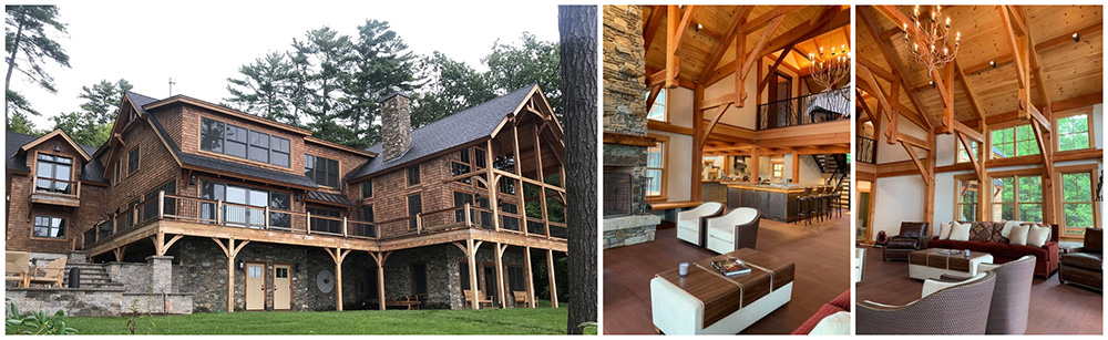 lake winnipesaukee timber frame home