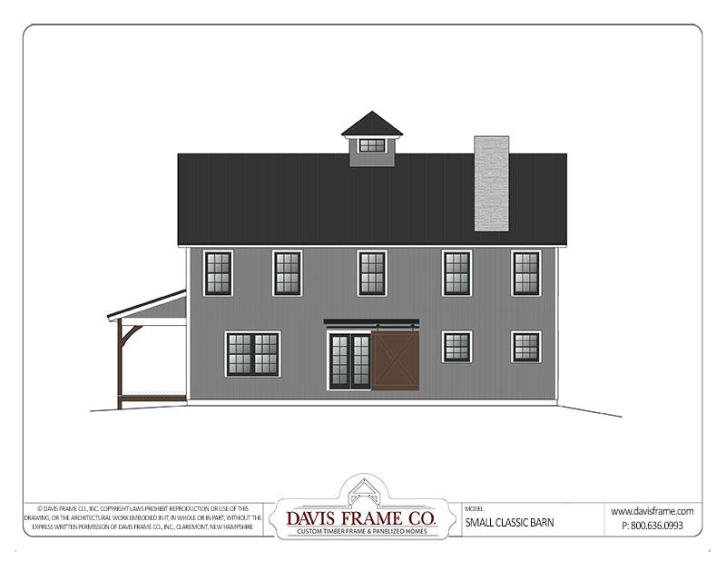 small barn home plan
