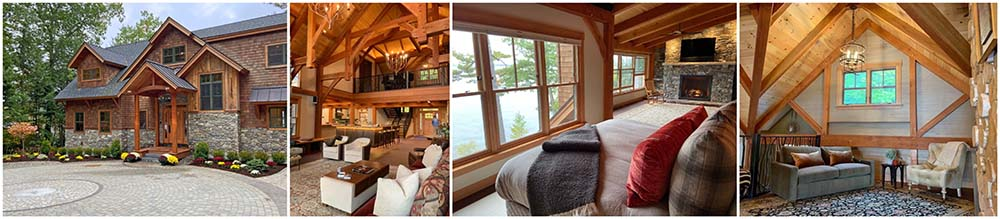 lake winnipesaukee timber frame home by lauren roman