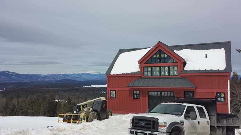 north conway timber frame home