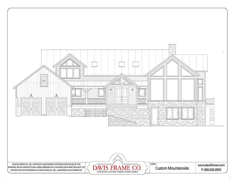 loon mountain timber frame home