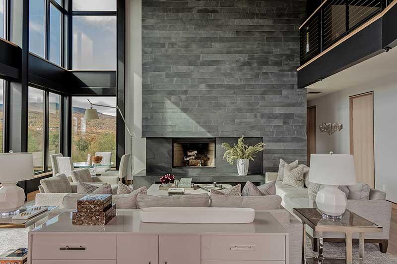 modern ski house living