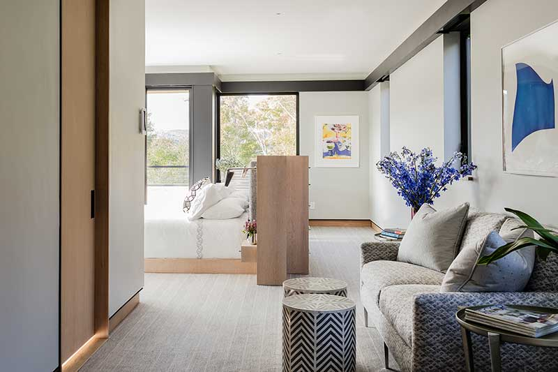 Sleek master bedroom