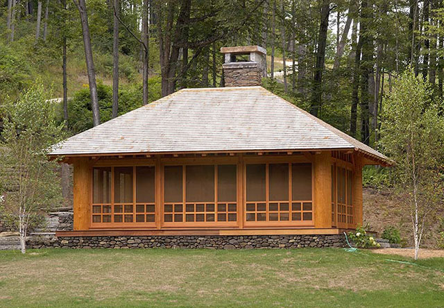Japanese tea house timber frame