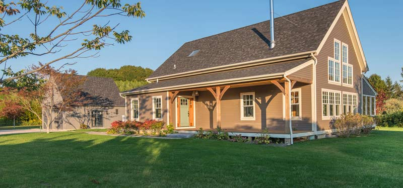 country timber frame home