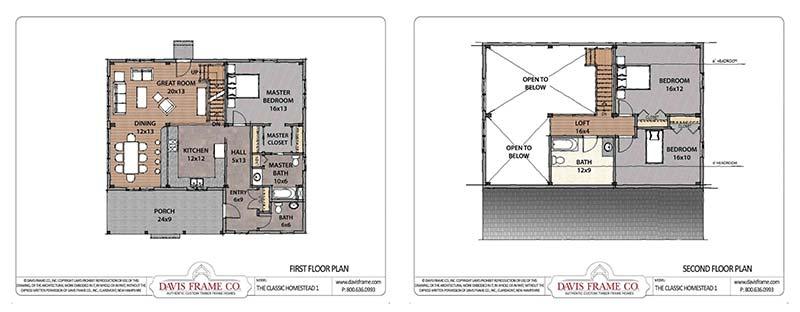 small timber frame floor plan