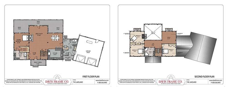 3,000 square foot timber frame plan