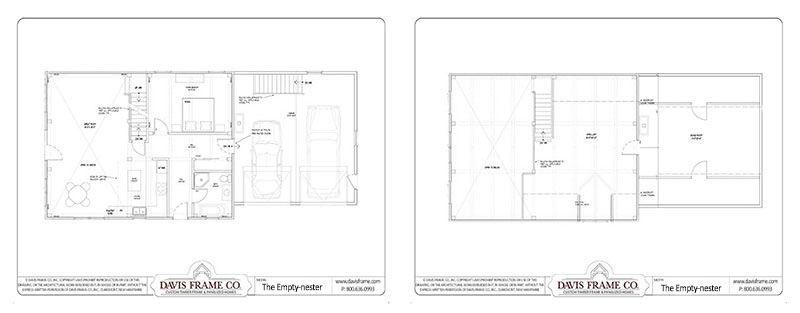 emptynester timber frame floor plan
