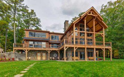 Award Winning Lake Winnipesaukee Timber Frame Home