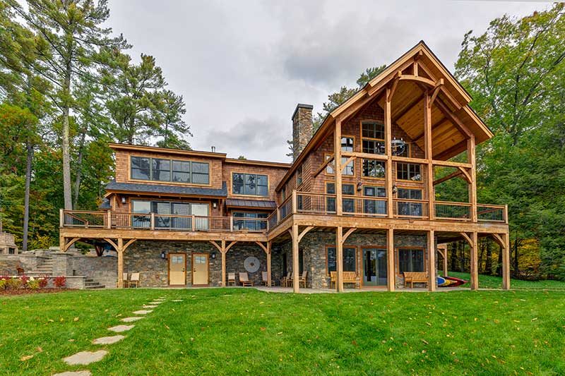 Award Winning Lake Winnipesaukee Timber Frame Home