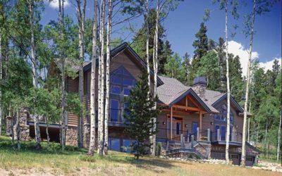 mountainside timber frame home