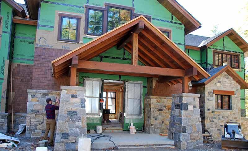 timber frame porch nh