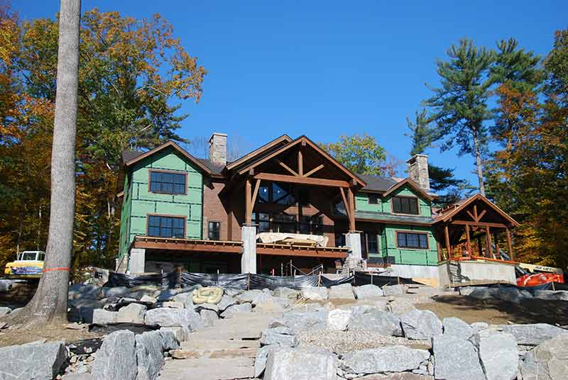New Lake Winnipesaukee Timber Frame Home