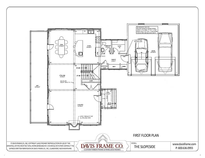 ski house timber frame floor plan