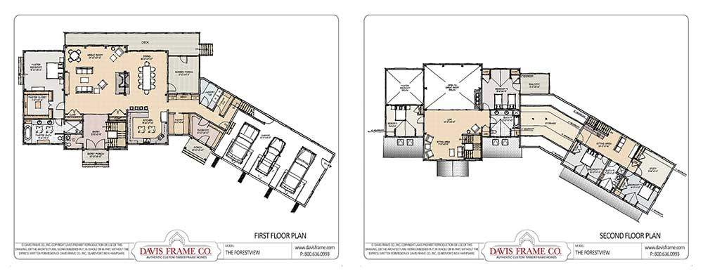 timber frame plan with overnight guest space