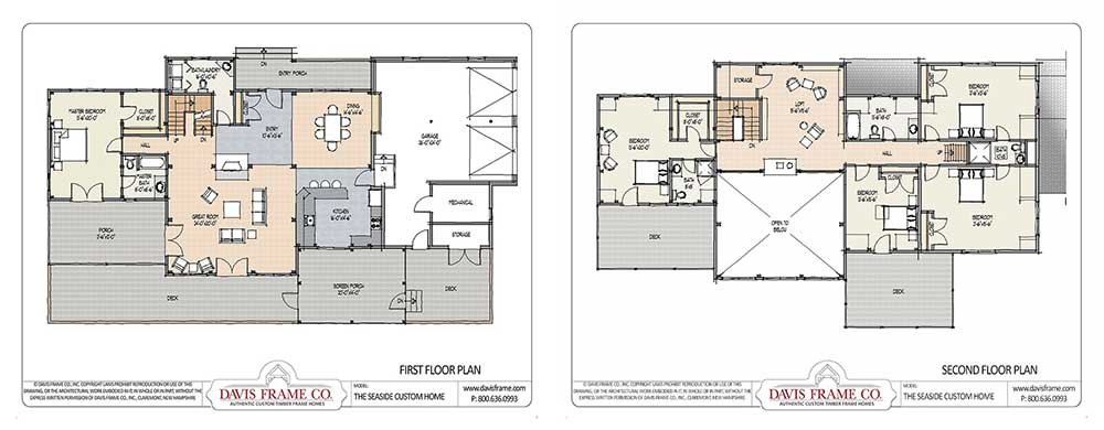 timber frame floor plan with guest suite