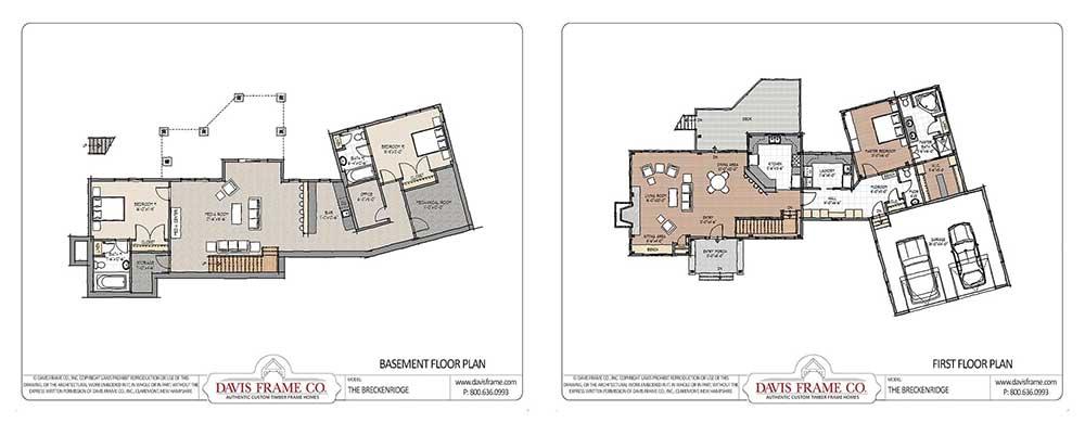 Breckenridge timber frame floor plan