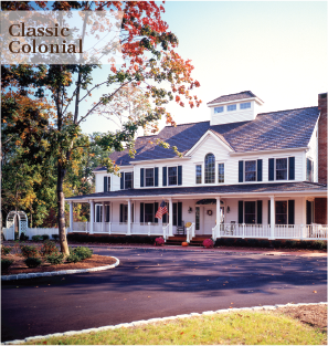 classic colonial timber frame homes