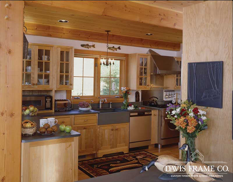 Classic barn timber frame kitchen