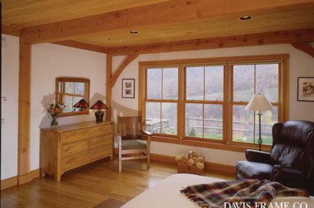 Classic barn home bedroom