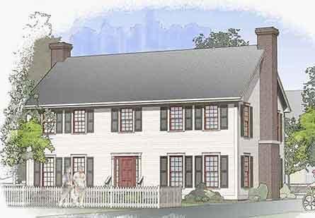 Classic Colonial 1a Floor Plan Barn Home Plan Davis Frame
