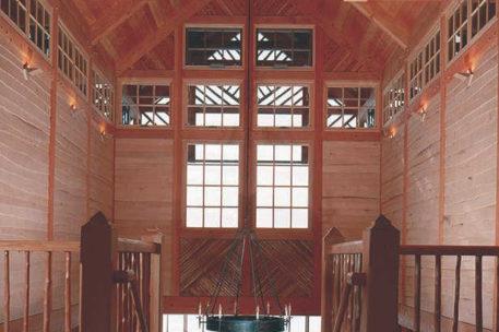 Adirondack timber frame home