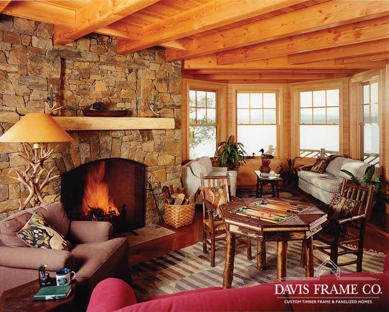 adirondack timber frame great room