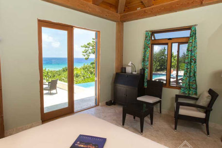 Grand Cayman timber frame bedroom