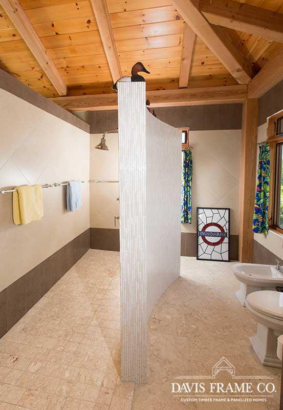 Grand Cayman timber frame bathroom