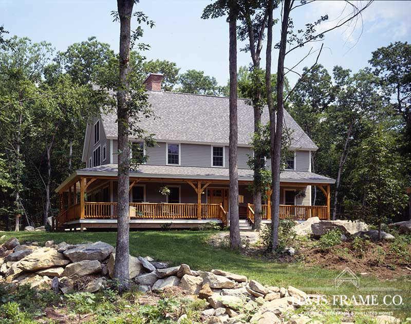 Classic farmhouse timber frame home