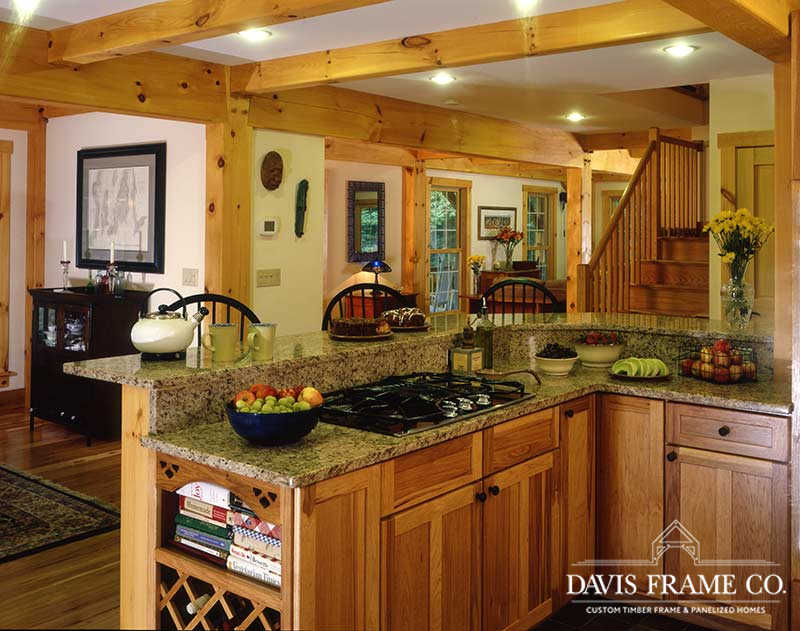 Classic farmhouse timber frame kitchen