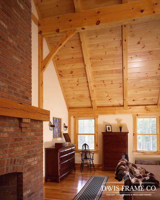 Classic farmhouse timber frame bedroom