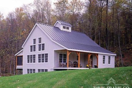 Classic homestead barn home