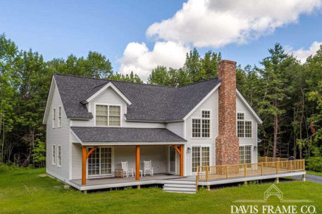 Classic Vermont timber frame home