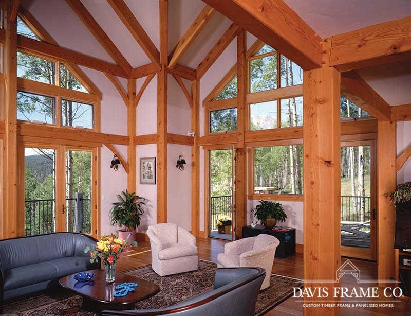 colorado timber frame great room