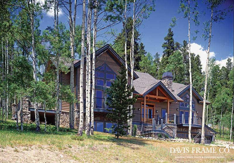Colorado timber frame home