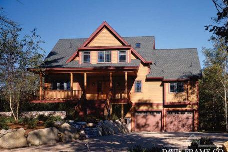 Craftsman timber frame home