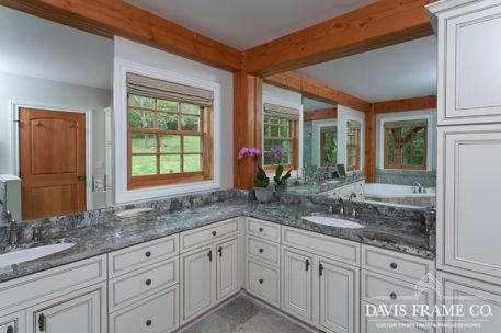 Pennsylvania timber frame bathroom