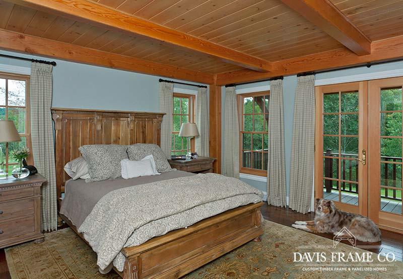 Pennsylvania timber frame master bedroom