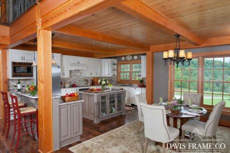 Pennsylvania timber frame kitchen