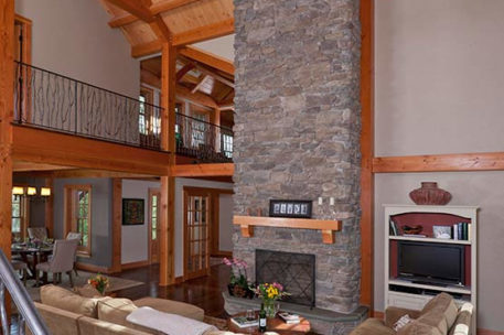 Pennsylvania timber frame great room