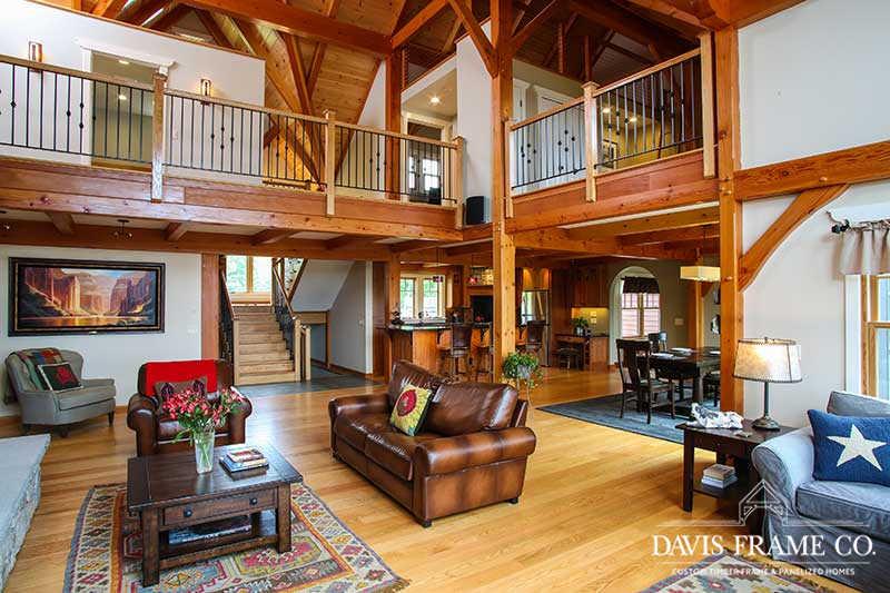 timber frame home in berkshires massachusetts