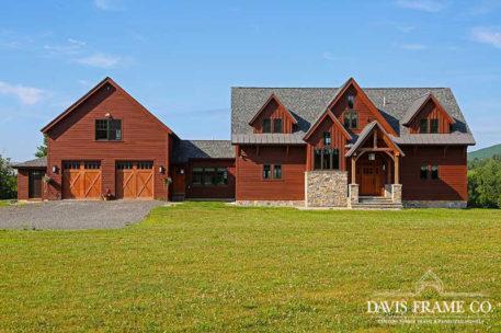 Berkshires timber frame home