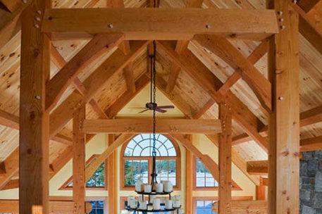 Lake Mascoma Timber Frame Home loft