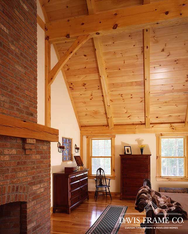 Farmhouse timber frame bedroom