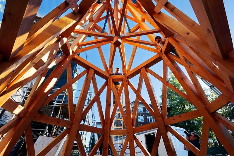 Grace Episcopal Timber Frame Steeple