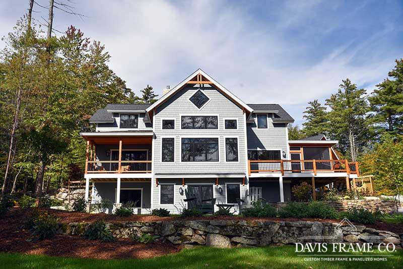 Lake Winnipesaukee hybrid timber frame home