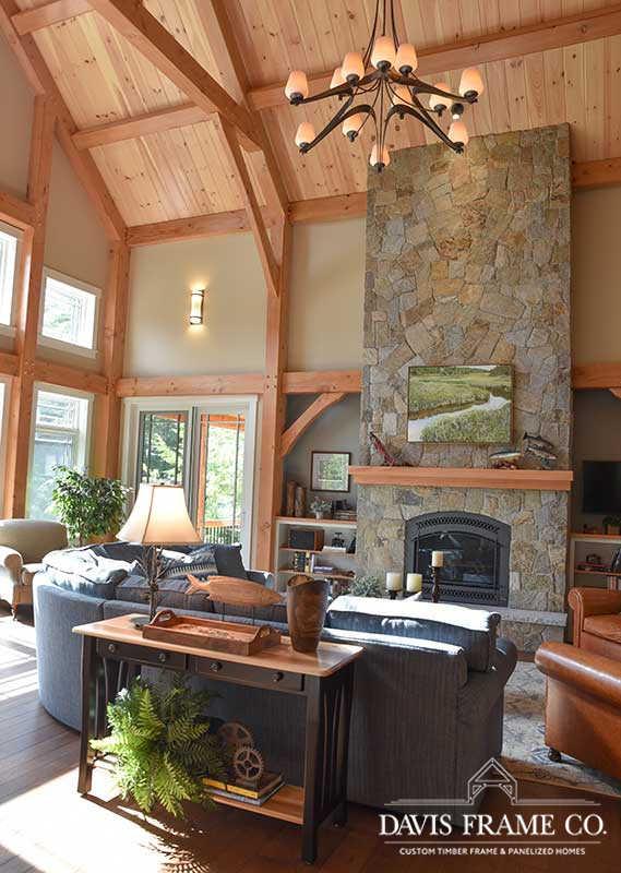 Hybrid timber frame home on Lake Winnipesaukee