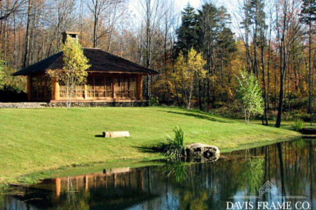 Japanese tea house timber frame pavilion