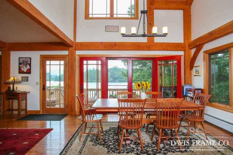 Craftsman timber frame cottage